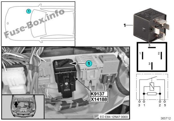 Fuses and relays BMW X1 (E84 2010-2015)
