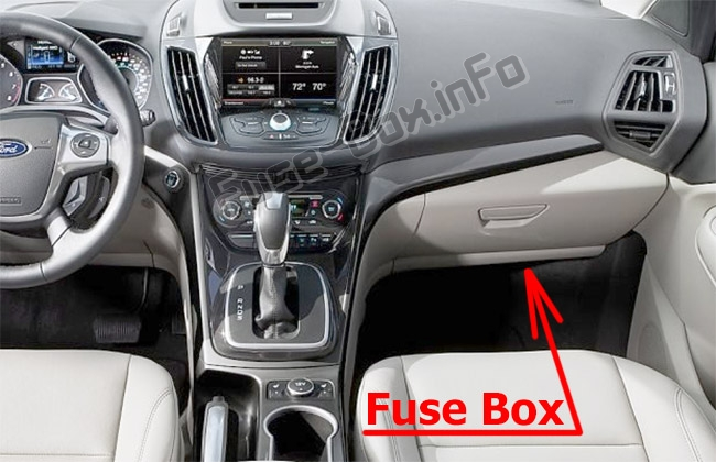 Fuses and relays Ford Escape (2013-2019)