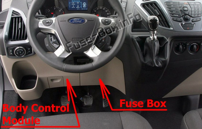Fuses and relays Ford Transit Custom (2012-2016)