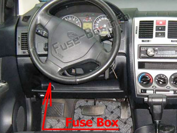 Fuses and relays Hyundai Getz (2006-2010)