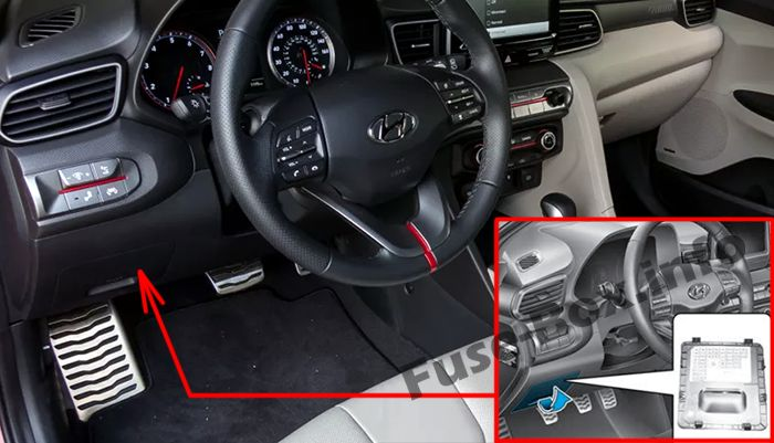 Fuses and relays Hyundai Veloster (2018-2019..)
