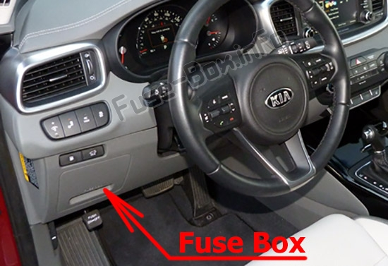 Fuses and relays KIA Sorento (UM 2016-2019..)