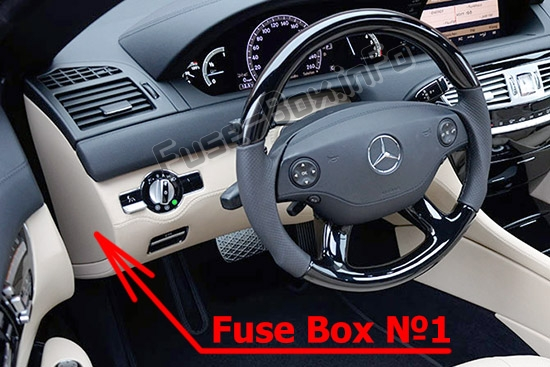 Fuses and relays Mercedes-Benz CL-Class &#038 S-Class (C216/W221 2006-2014)