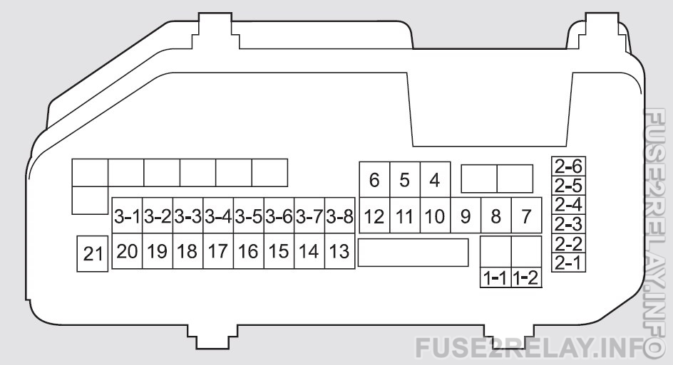 Honda Crosstour (2011 - 2012) fuse relay box diagram