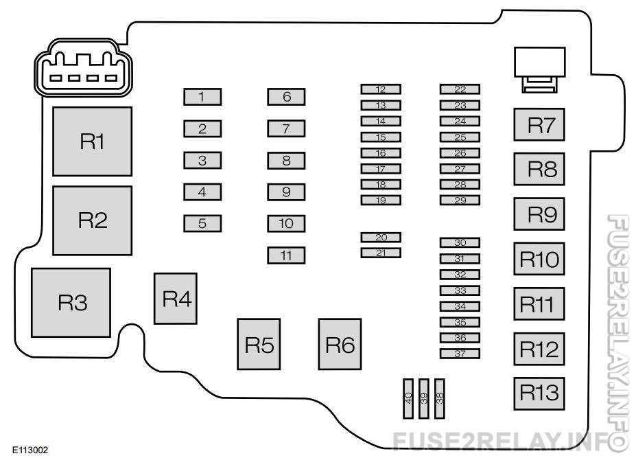 Ford EcoSport mk2 (Second Generation) (from 2013) - fuse box diagram (India version)
