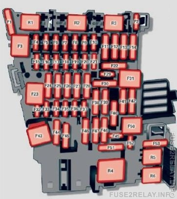 Audi TTS Coupe (2016 - 2017) fuse relay box diagram
