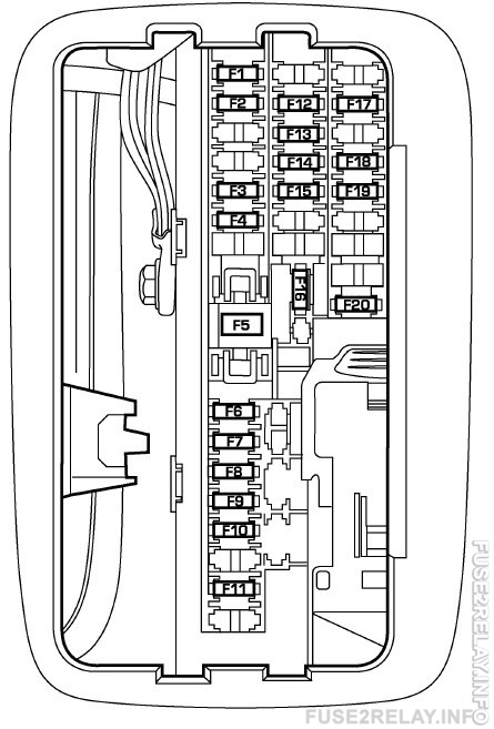 Dodge Durango (2007) fuse relay box diagram