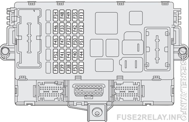 Fiat Bravo (2008 - 2014) fuse relay box diagram
