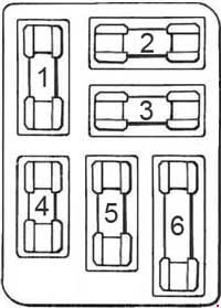 Ford Mustang (1964) fuse relay box diagram