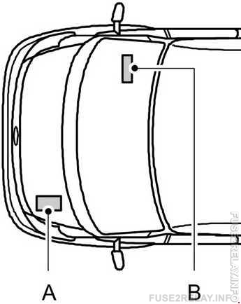 Ford Transit (2000 - 2006) fuse relay box diagram